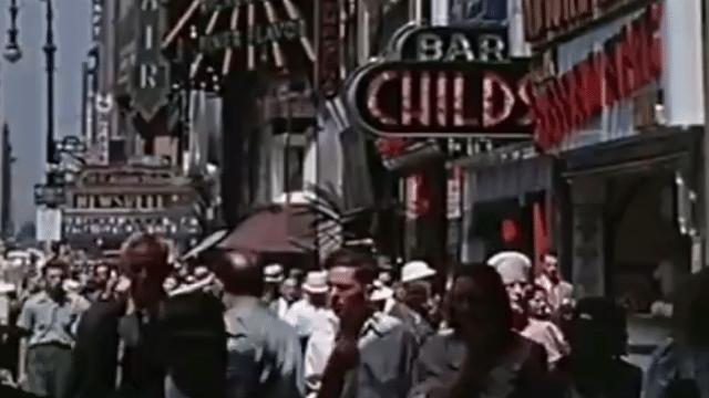 16mm Kodachromefilm of New York City from 1939