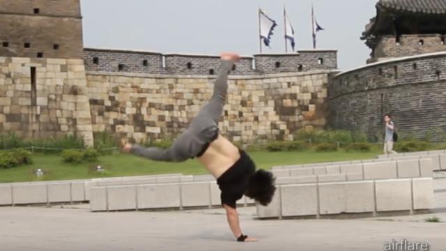 "Pocket's gymnastics-fueled breakdancing powermove ""tutorial"""