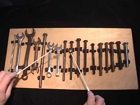 Beethoven's Ninth on a Toolbox Glockenspiel