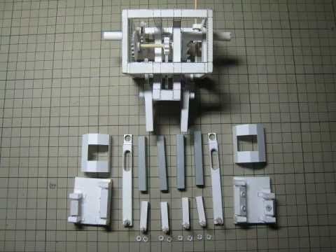 How to make a walking robot with paper