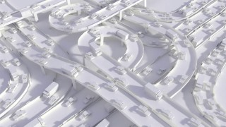 It's Paper, a looping, computer-rendered landscape
