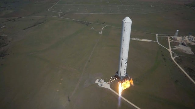SpaceX's Grasshopper hover and landing (October 2013)