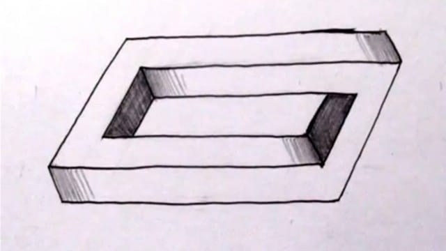 How to draw a Penrose Rectangle & other impossible objects