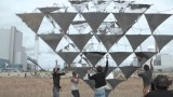 Tomás Saraceno's Solar Bell: A paper-thin, kite-like wind sculpture