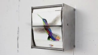 Juan Fontanive's mechanical flip books of hummingbirds