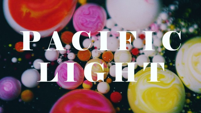 Pacific Light:  Water, ink, oil, and soap form a tiny universe of color