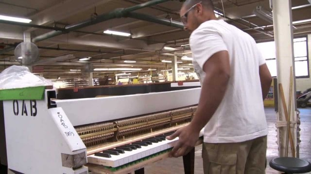 The making of a Steinway Grand Piano from start to finish