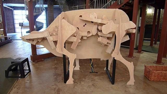 Rube Goldberg Machine Cow