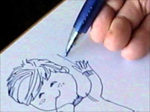 French illustrator Alain Grée drawing