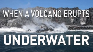 When a volcano erupts underwater
