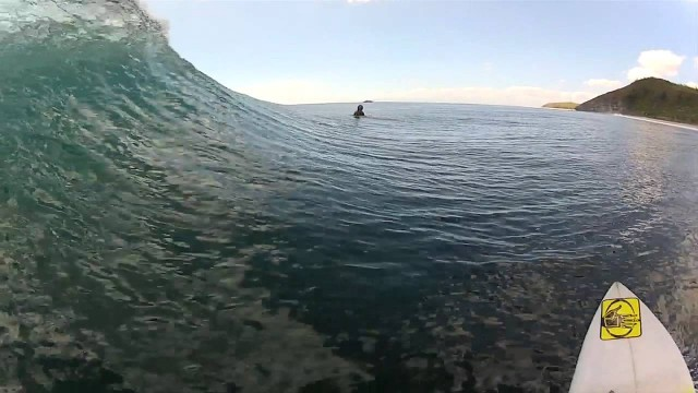 Surfboard-mounted camera: Anthony Walsh Indo surf sessions