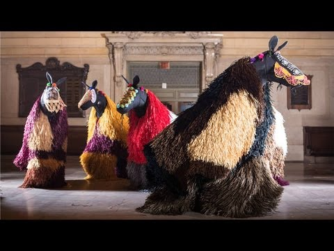 HEARD NY in Grand Central: Nick Cave's Soundsuit performance