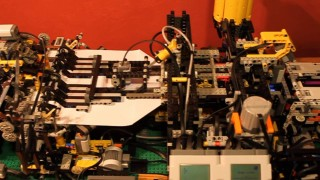 LEGO paper airplane-making machine