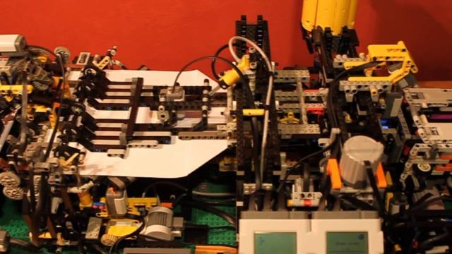 LEGO paper airplane-making machine