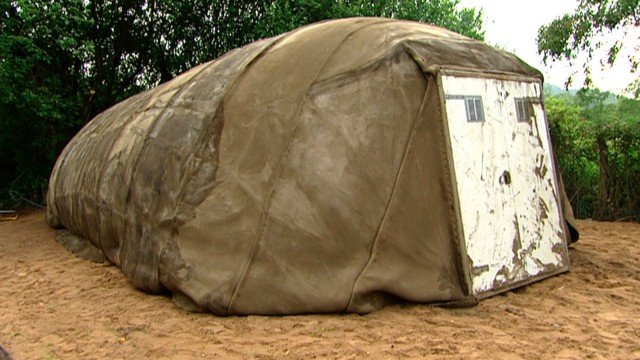 Shelter in 24hrs: Emergency Concrete-laced Canvas Tent
