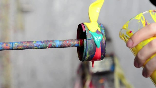 Black Hole by Fabian Oefner: Brightly-colored paint spun at high speeds
