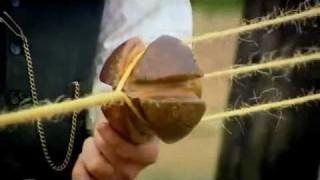 Edwardian Farm: Making rope from sisel fiber