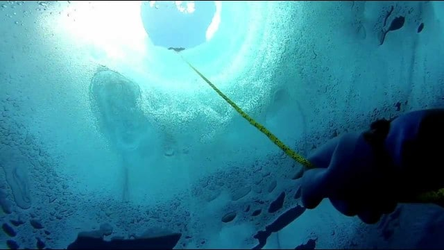 What does it look like underneath a lake covered with Antarctic ice?
