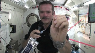 How do astronauts wash their hands in space?