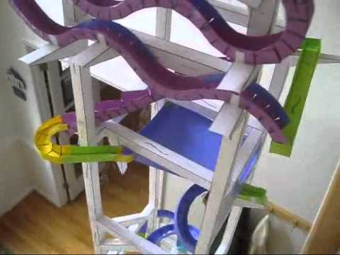 Andrew gatt s paper rollercoasters the kid should see this for Paper roller coaster loop template