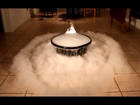 Giant Dry Ice Bubble Experiment