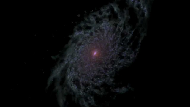 NASA: Computer Model Shows a Disk Galaxy's Life History