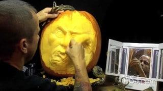 Ray Villafane turns pumpkins into artfully carved Jack-o'-lanterns
