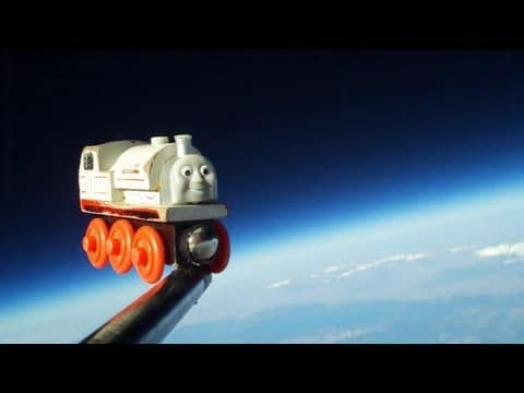 A Toy Train in Space