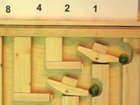 Binary Marble Adding Machine
