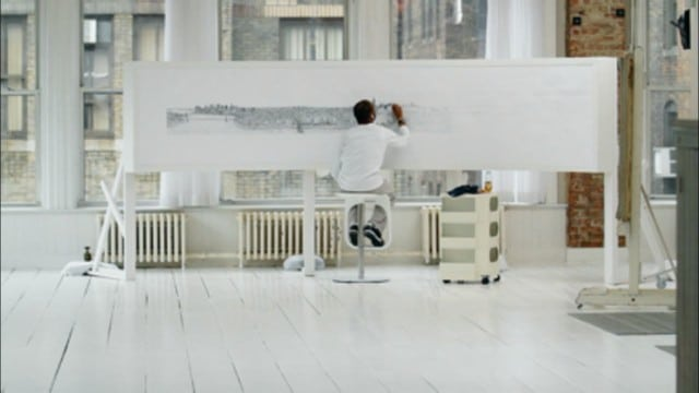 Autistic artist Stephen Wiltshire draws New York City from memory