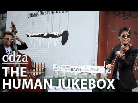 cdza's Human Jukebox: A busking experiment for Wingspan Arts