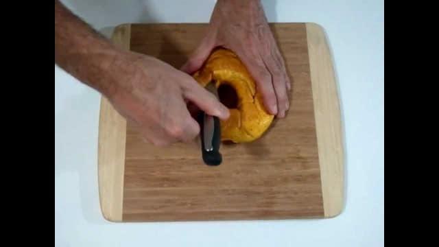 Mathematically Correct Breakfast: Möbius strip bagel