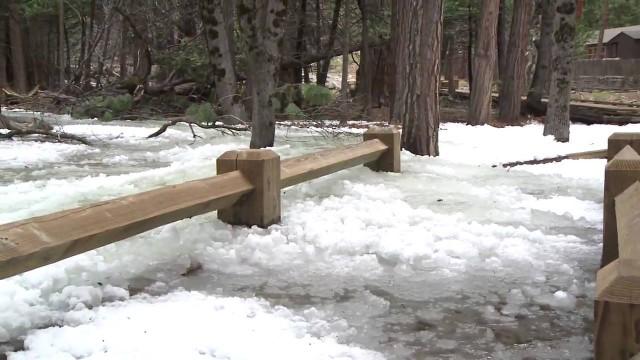 Frazil ice in Yosemite National Park