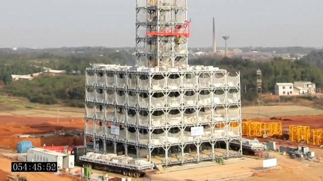 Time lapse: A 30-story building built in 15 days