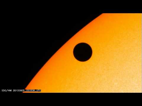 NASA SDO: Venus crossing in front of the sun