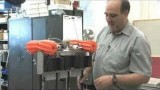 Andy Ruina's 22-pound, four-legged bi-ped robot named Ranger