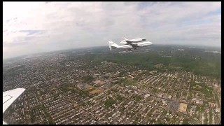 Space Shuttle Discovery rides a Shuttle Carrier Aircraft to Dulles