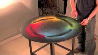 Making sounds visible: sound vibrations transform sand patterns