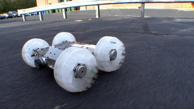The incredible jumping Sand Flea robot by Boston Dynamics
