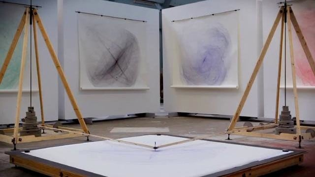 Eske Rex: Pendulum-Powered Drawing Machine