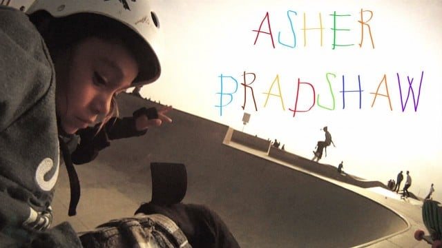 Seven year old skateboarder Asher Bradshaw