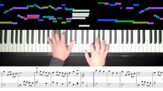 Piano visualizations: Johann Sebastian Bach, Minuet in G
