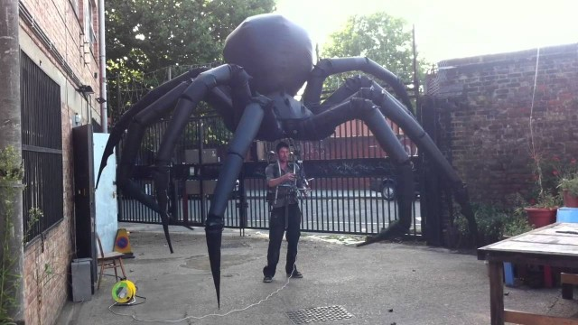 Tim Davies' massive spider puppet