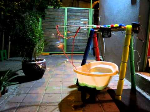 Bubble Bot: A robot built for blowing massive bubbles