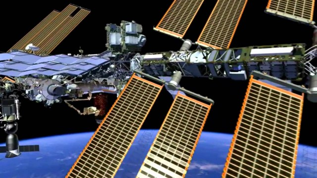 Fly around the International Space Station in this animation