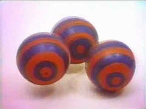 Sesame Street: Three striped balls & a polka dot ball
