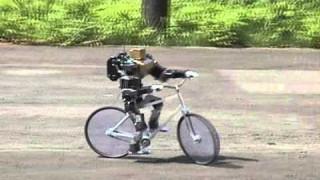 Robot riding a bicycle