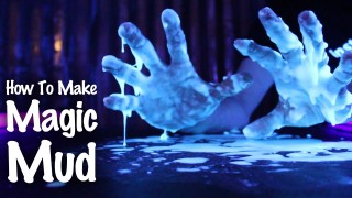 Glowing Oobleck! How to make magic mud