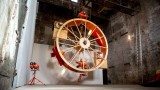 In Orbit: Two people live in a giant hamster wheel