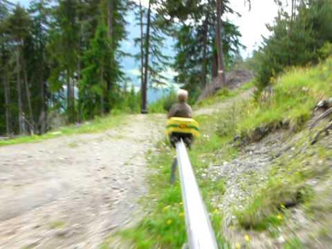 Ride the Sommerrodelbahn Alpine Coaster in Mieders, Austria